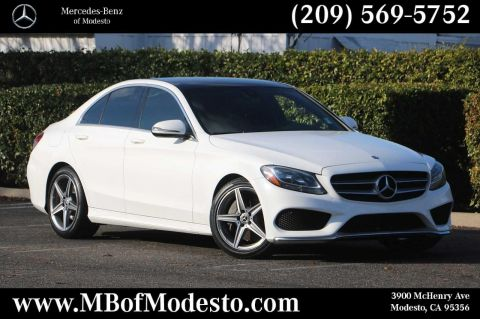 Certified Pre-Owned 2017 Mercedes-Benz C-Class C 300 Sedan with Sport Pkg